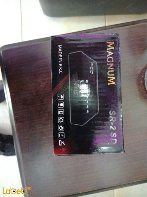 رسيفر ماغنوم 4000 قناة متعدد اللغات أسود موديل SR-2 SD