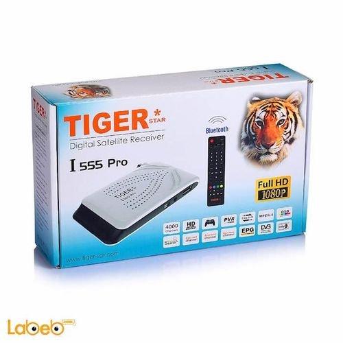 ريسيفر تايجر موديل I 555 Pro فل HD منفذ يو اس بي 4000 قناة