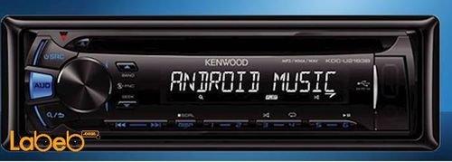 مسجل للسيارة كينوود سي دي منافذ USB و AUX اسود KDC-U2163B