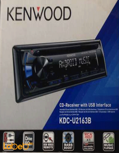 Kenwood Car CD Player - USB & AUX - Black - KDC-U2163B model