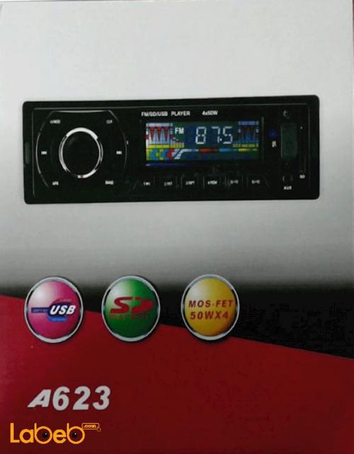 راديو سيارة مع USB قدرة 50 واط*4 منفذ قارئ ذاكرة أسود موديل A623