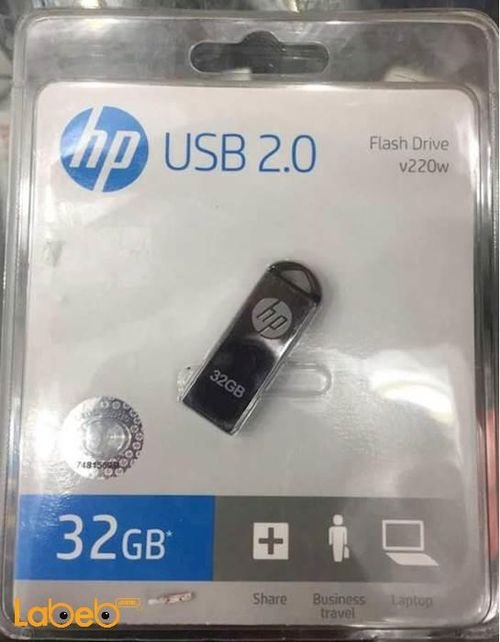 HP Usb 2.0 Flash Drive 32GB Black color HPFD220W-32