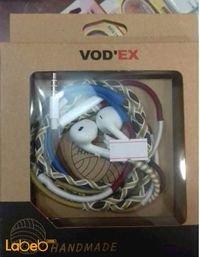 سماعة اذن VODEX لجميع الاجهزة مايكروفون قماش متعدد الالوان