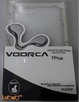 غطاء خلفي للموبايل Voorca مناسب لأيفون 7 بلس لون شفاف