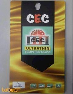 لصقة شاشة حماية للموبايل CEC - مناسب لسامسونج S7 Edge - شفاف
