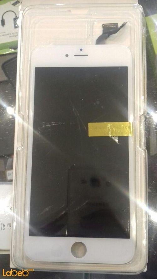شاشة LCD موبايل أيفون 6 اس بلس تدعم اللمس 5.5 انش لون أبيض