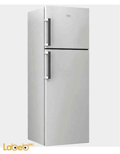 Beko Refrigerator top freezer 385L Silver RDNE390M21M