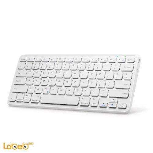 Anker Ultra-Compact Bluetooth Keyboard White color A7721S21