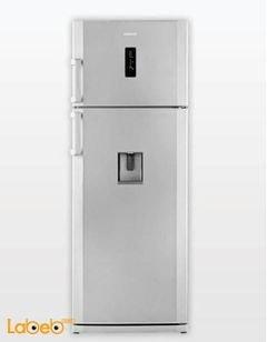 ثلاجة فريزر علوي بيكو - 550 لتر - لون فضي - DN 155220 DM