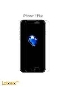 Tempered glass and case - for iphone 7 plus - black color