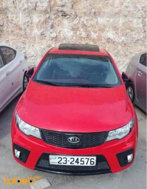 سيارة كايا فورتي كوب 2013 محرك 1600 سي سي لون أحمر 45000 كلم