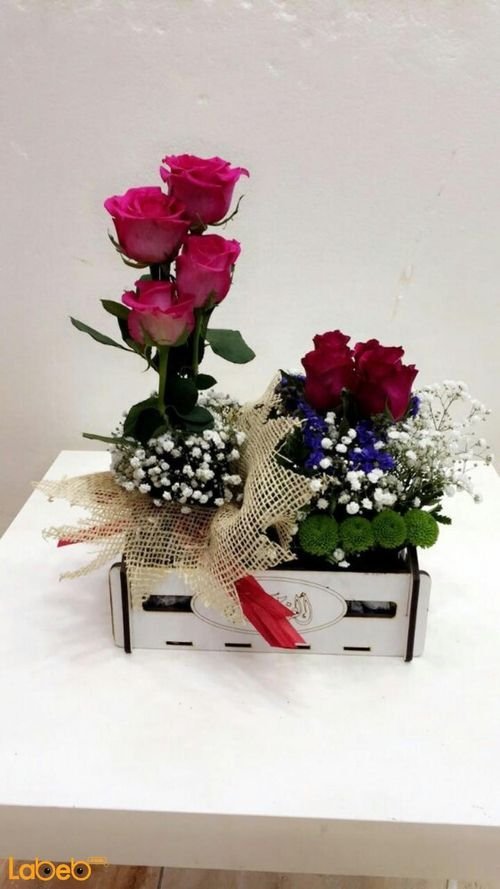 Natural flower wooden box