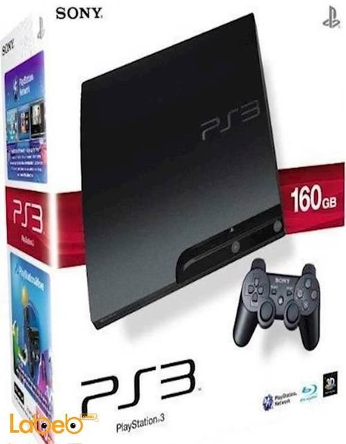 Sony PlayStation 3 Slim 160GB Charcoal Black CECH-3003A model