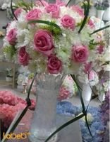 Natural flowers vase Glass vase White and Pink colors