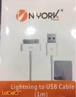 Nyork Lightning to USB Cable 1M White color NYU-22 model