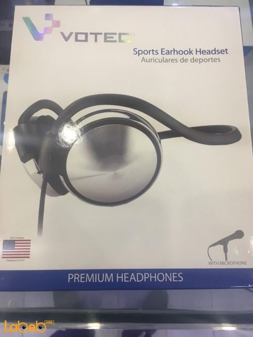 Votec Premium Sports Earhook Headset with mic 1.2m HD007