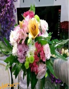 Natural flowers bouquet - Yellow - Pink - White - Red