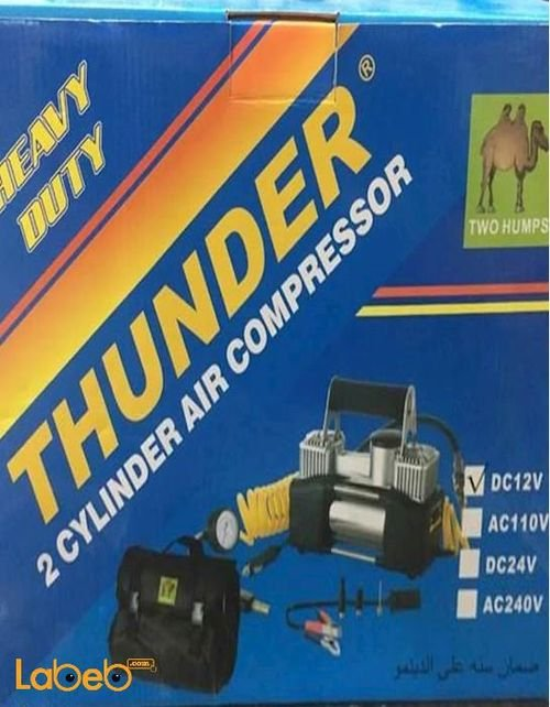 ضاغط هواء للسيارة THUNDER قوة 2 سلندر 12 فولت AC-TH2C