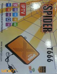 رسيفر T666 سبايدر فل اتش دي 1080 بكسل 4000 قناة برتقالي
