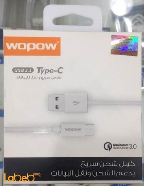 Wopow charge & Data cable for Android 1m white LT-20