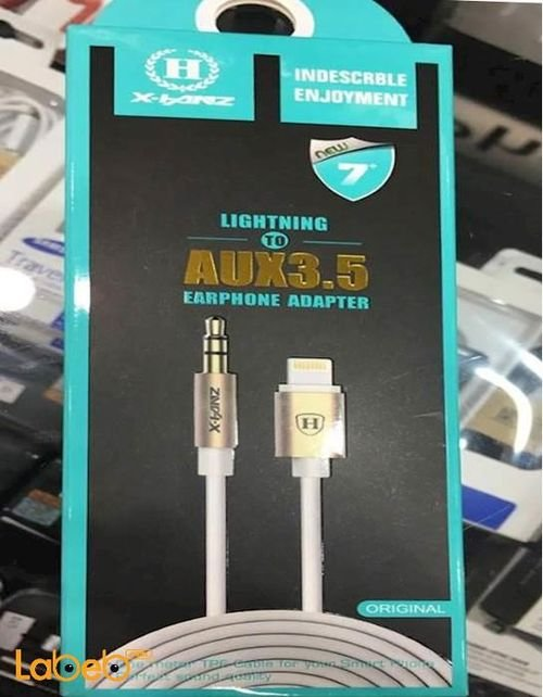 lightning to aux3.5 earphone adapter for iPhone 7 1m HD-A710
