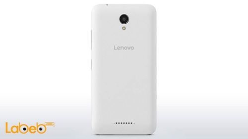 back Lenovo A plus smartphone White