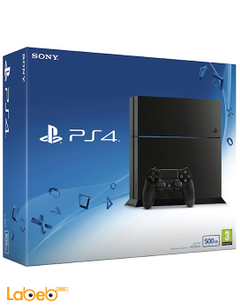 Sony PlayStation 4 - 500GB - Black color - CUH-1216A model