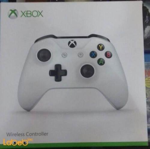 يد تحكم Xbox لاسلكية مايكروسوفت ويندوز 10 لون أبيض موديل 1708