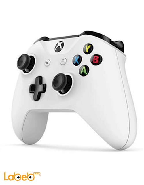 يد تحكم Xbox لاسلكية مايكروسوفت ويندوز 10 أبيض موديل 1708