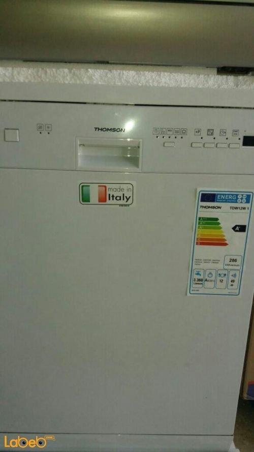 جلاية ثومسون 6 برامج 12 طقم لون أبيض TDW12W1