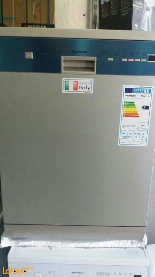 جلاية ثومسون 6 برامج 12 طقم لون فضي موديل TDW12S1