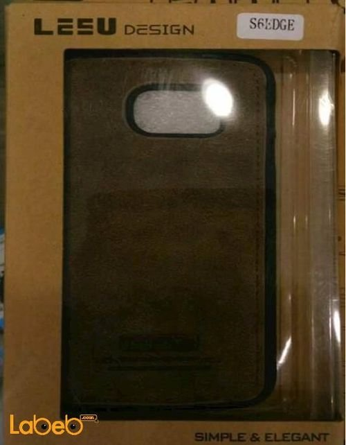 Lesu mobile back cover for samsung S6 edge Brown