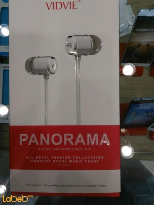 Vidvie Panorama stereo earphones with mic Black color VV-H005