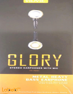Vidvie stereo earphones with mic - Black & Gold - VV_H001 model