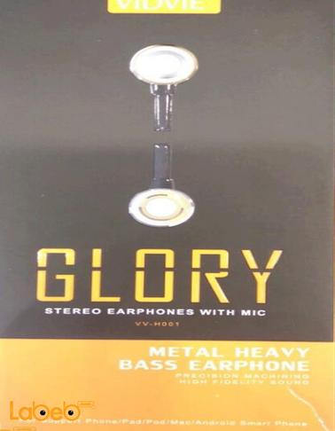 Vidvie stereo earphones with mic Black & Gold VV_H001 model