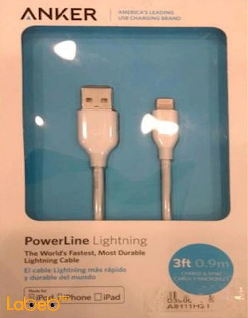 Anker Micro USB iPod iPhone iPad 0.9miters White A8111H21