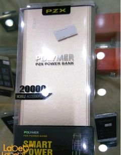 PZX Polymer Power Bank - 20000mAh - gold color - C158 model