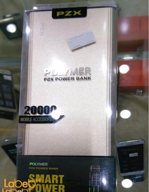 PZX Polymer Power Bank 20000mAh gold color C158 model