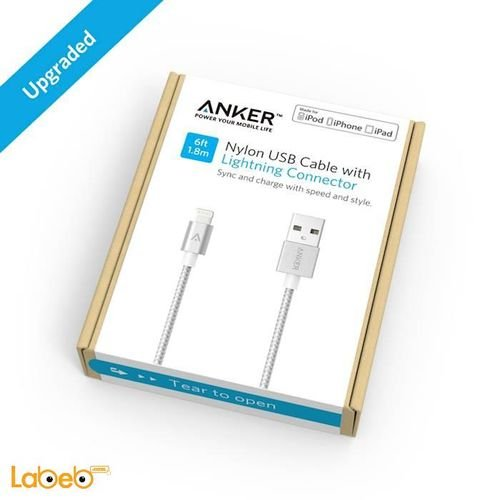 box Anker lightning cable iPad / iPhone 1.8m silver A7114041