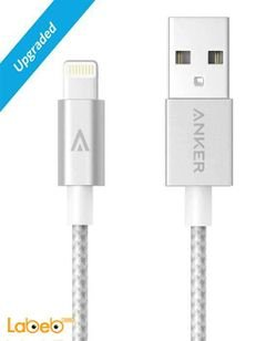 Anker lightning cable - iPad / iPhone - 1.8m - silver - A7114041