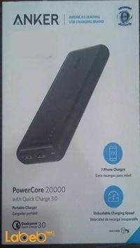 بطارية محمولة انكر 20000mAh منفذين USB أسود A1272H11