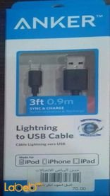 Anker Lightning to USB Cable 0.9m black color A7101