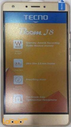 موبايل Tecno Boom J8 - ذاكرة 16 جيجابايت - لون ذهبي - موديل J8