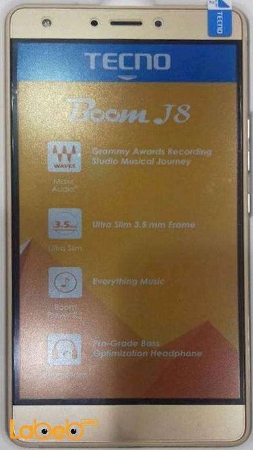 موبايل Tecno Boom J8 ذاكرة 16 جيجابايت لون ذهبي موديل J8