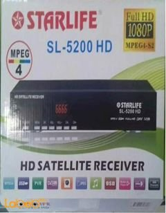 Starlife HD Satellite Receiver - Full HD - Black - SL-5200HD