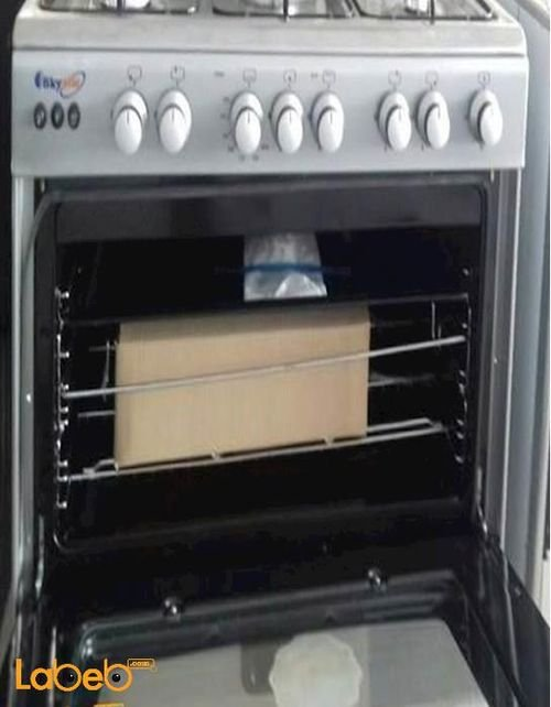Sky star oven 5 burners 60x90cm stainless color C6090