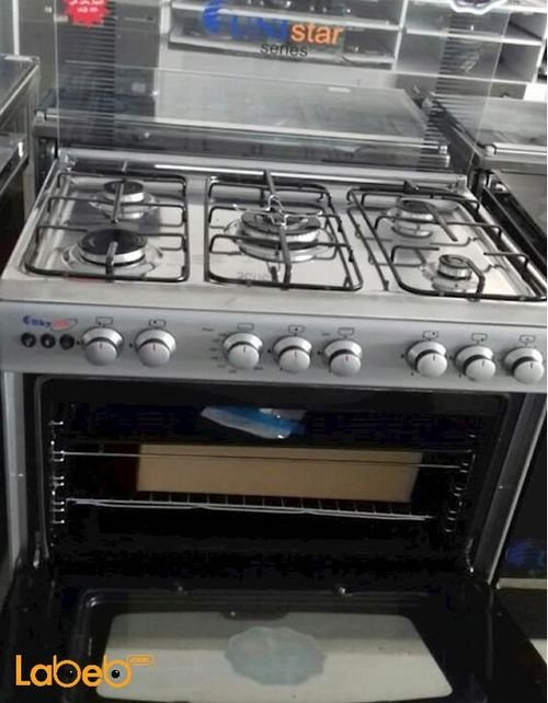 Sky star oven 5 burners 60x80cm stainless color C6080