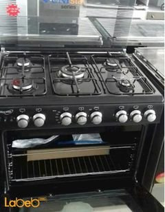 Sky star oven - 5 burners - 60x80cm - black color - C6080