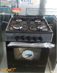 Sky star oven - 4 burners - 55x55cm - black color - C5555