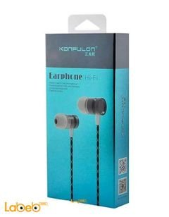 Konfulon earphones - Universal - With microphone - Grey- iNA8
